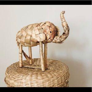 Small woven elephant